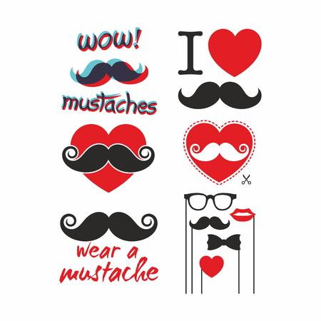 mustache: Set a Mustahe. Illustration