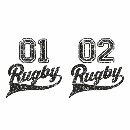 league: Rugby lettering