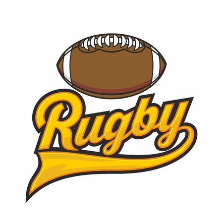 Rugby lettering