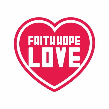 faith hope love: Heart Faith Hope Love illustration