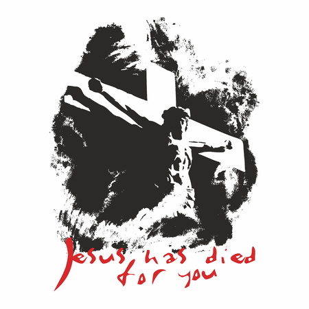 crucifixion: Jesus has died for you illustration Illustration