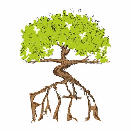 evangelism: Tree of faith illustration