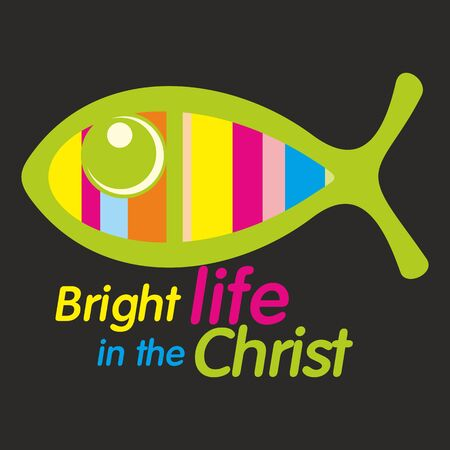 jesus in heaven: Bright life in the Christ illustration Illustration