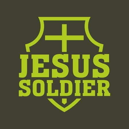 cruz religiosa: Jes�s ilustraci�n soldado