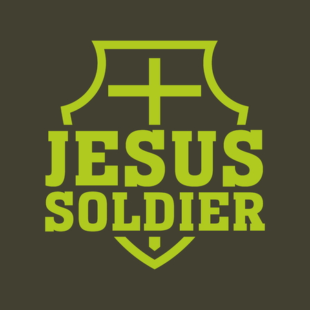 holy cross: Jesus soldier illustration Illustration