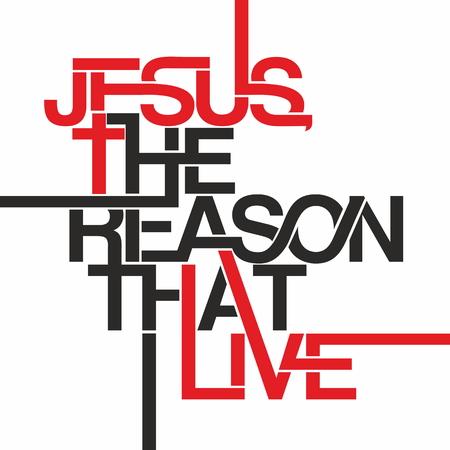 Jezus, de reden dat ik leef illustratie Stock Illustratie