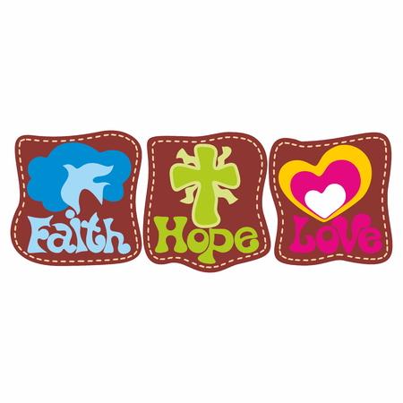faith hope love: faith hope love illustration