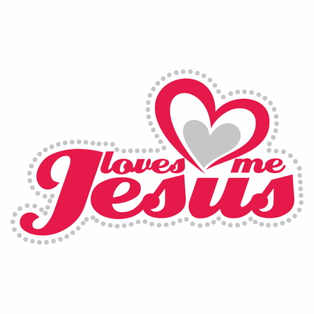 jesus in heaven: Jesus loves me illustration Illustration