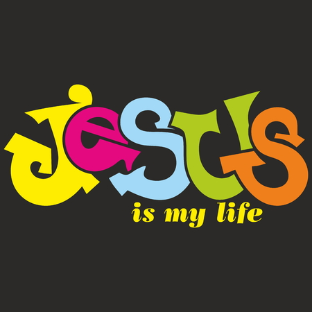 jesus: Jesus is my life illustration Illustration
