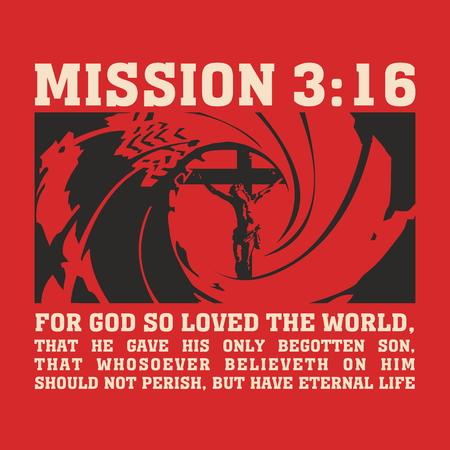 Hand getrokken voor Mission van Jezus