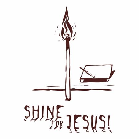 jezus: Ręcznie rysowane Shine dla Jezusa Ilustracja