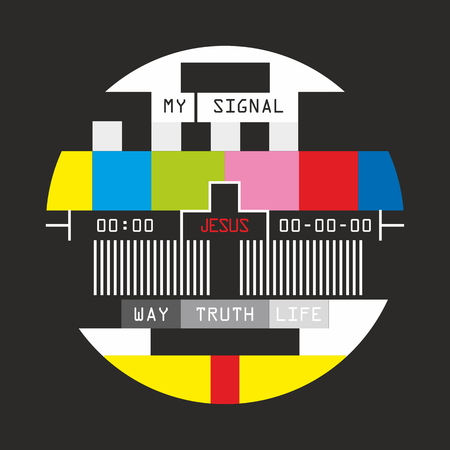 jesus: Television signal for christian. Only Jesus.