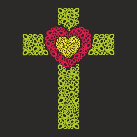 cielo: Cruz con Corazón