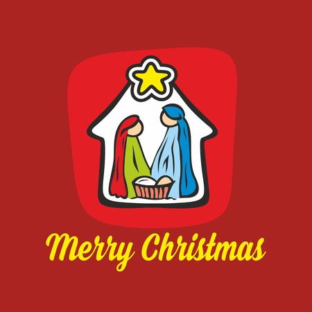 nativity: Merry Christmas. Nativity scene