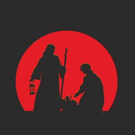 religion catolica: Escena de la Natividad. Feliz Navidad