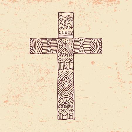 em: Detail in a cross Ilustra��o
