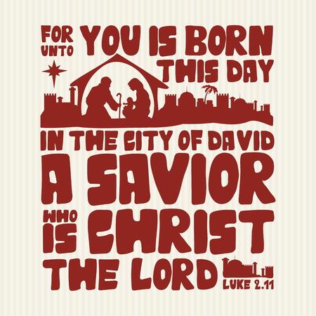 わたしあなたはこの日、市生まれ David ルーク、主キリストは、救い主のため 2:11