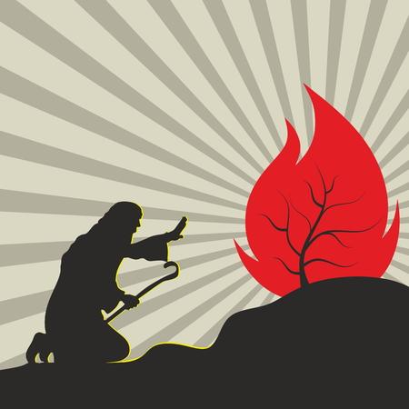 burning bush: Moses and the burning bush