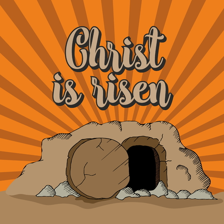 tomb empty: Christ is risen. The empty tomb Illustration
