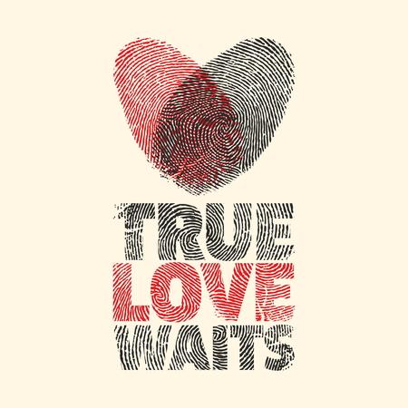 True love waits. Heart.  イラスト・ベクター素材