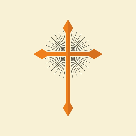 psalm: Christian cross, and the light rays