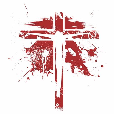 十字架アイコン。十字架上のイエス。  イラスト・ベクター素材