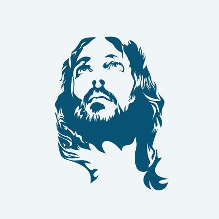 kruzifix: Jesus. Hand gemalt. Illustration