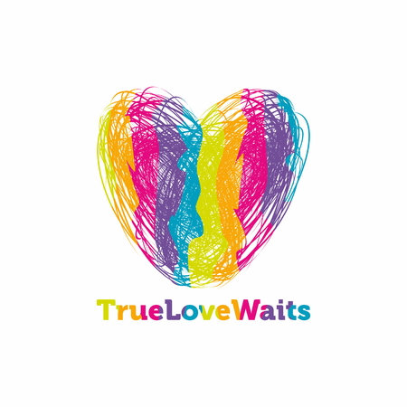 with true love: True love waits. Heart colors
