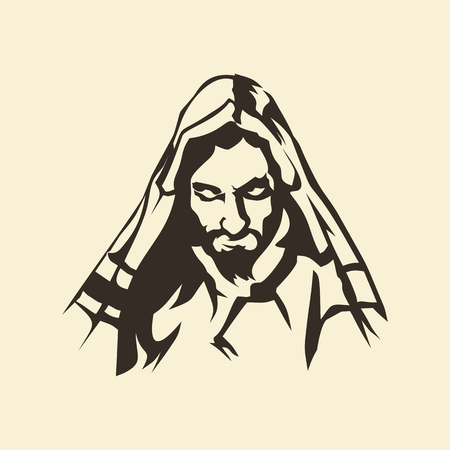 jesus: Face of Jesus. Hand drawn.