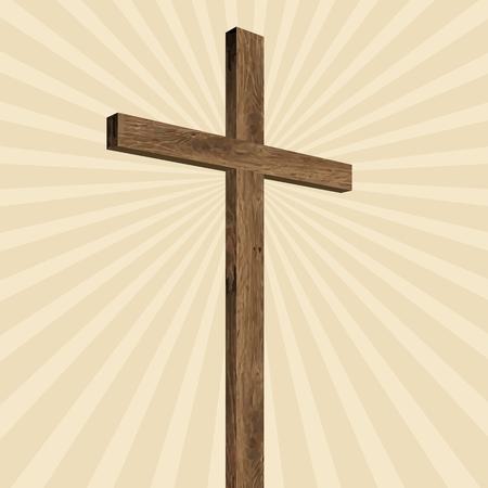 evangelism: Radiating cross, wooden cross