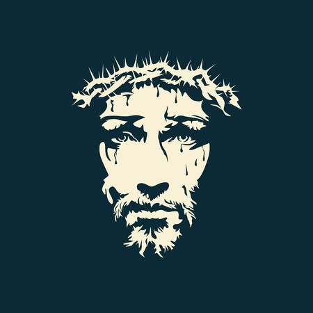 Twarz Chrystusa wyciągnąć rękę Ilustracja