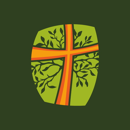 spiritual growth: Cross, tree, branches, growth, spiritual growth, icon