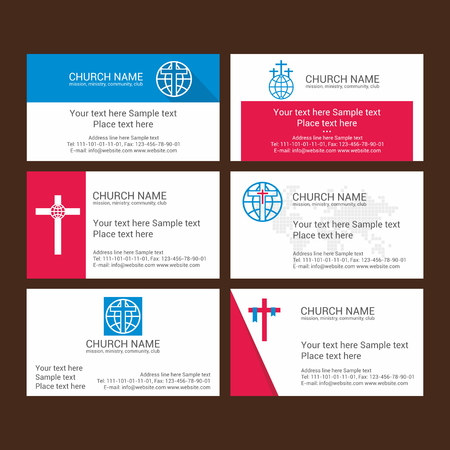 christian community: Set Christian business cards. For the church, the ministry, the club and the community