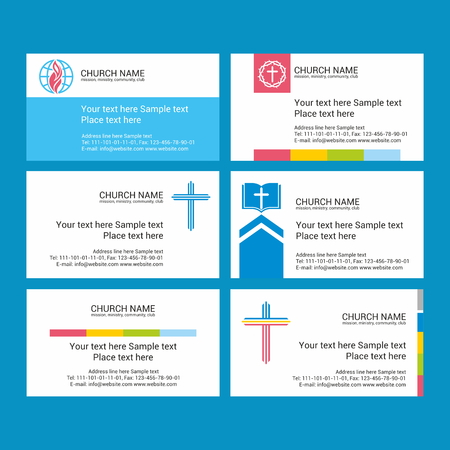 ministry: Set Christian business cards. For the church, the ministry, the club and the community