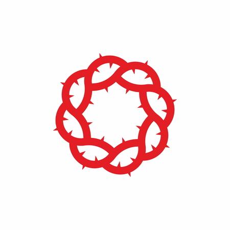 evangelism: Red Crown of Thorns Illustration