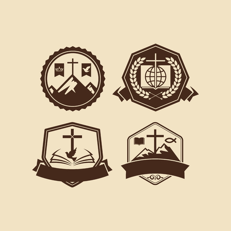 hopes: Set of vintage logos Christian church