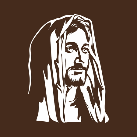 cruz de jesus: Cara de Jesucristo Vectores