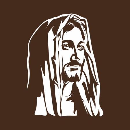 lord jesus: Face of Jesus Christ Illustration
