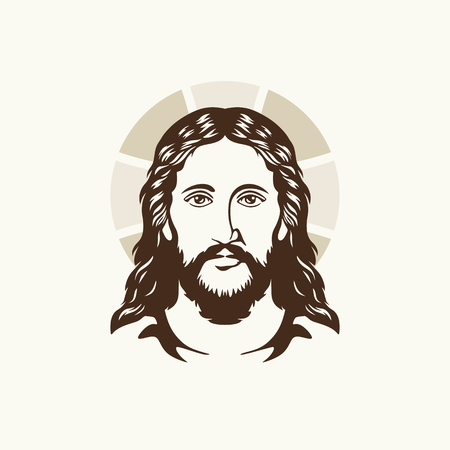 holy cross: Face of Jesus Christ Illustration
