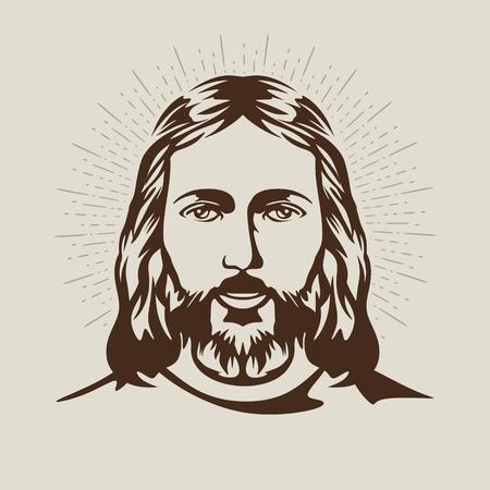 religion catolica: Cara de Jesucristo Vectores