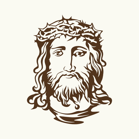 jesus in heaven: Face of Jesus Christ Illustration