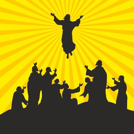 jezus: Wniebowstąpienie Pana Jezusa Ilustracja