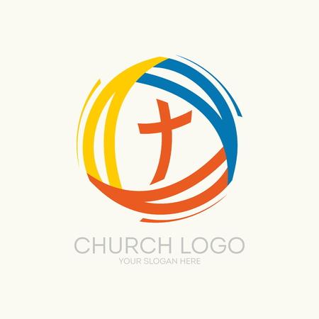 教会のロゴ。トリニティ  イラスト・ベクター素材