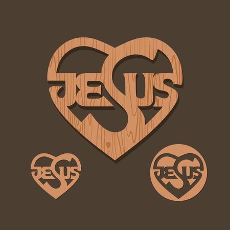 cielo: Las palabras de Jesús inscriben en el corazón Vectores