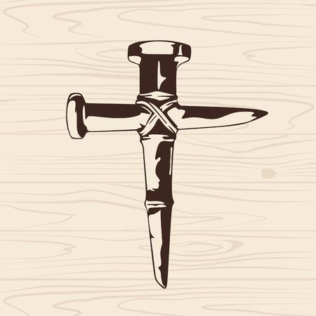 cruz religiosa: La cruz de clavos Vectores