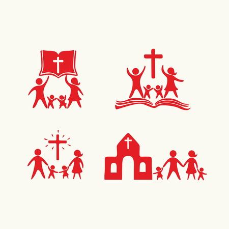 Christian family. Worship God. Religious rites.