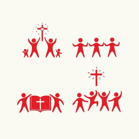 christian: Christian family. Worship God. Religious rites.