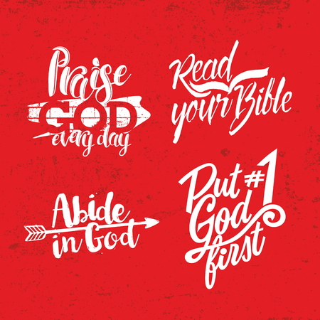 crucifixion: Christian phrase. Lettering. Words Illustration