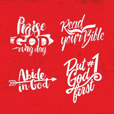 iglesia: Frase cristiana. Letras. Palabras