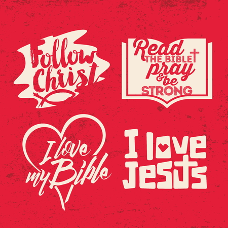 cross: Christian phrase. Lettering. Words Illustration